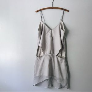 New One by One Teaspoon Gray Cut Out Dress